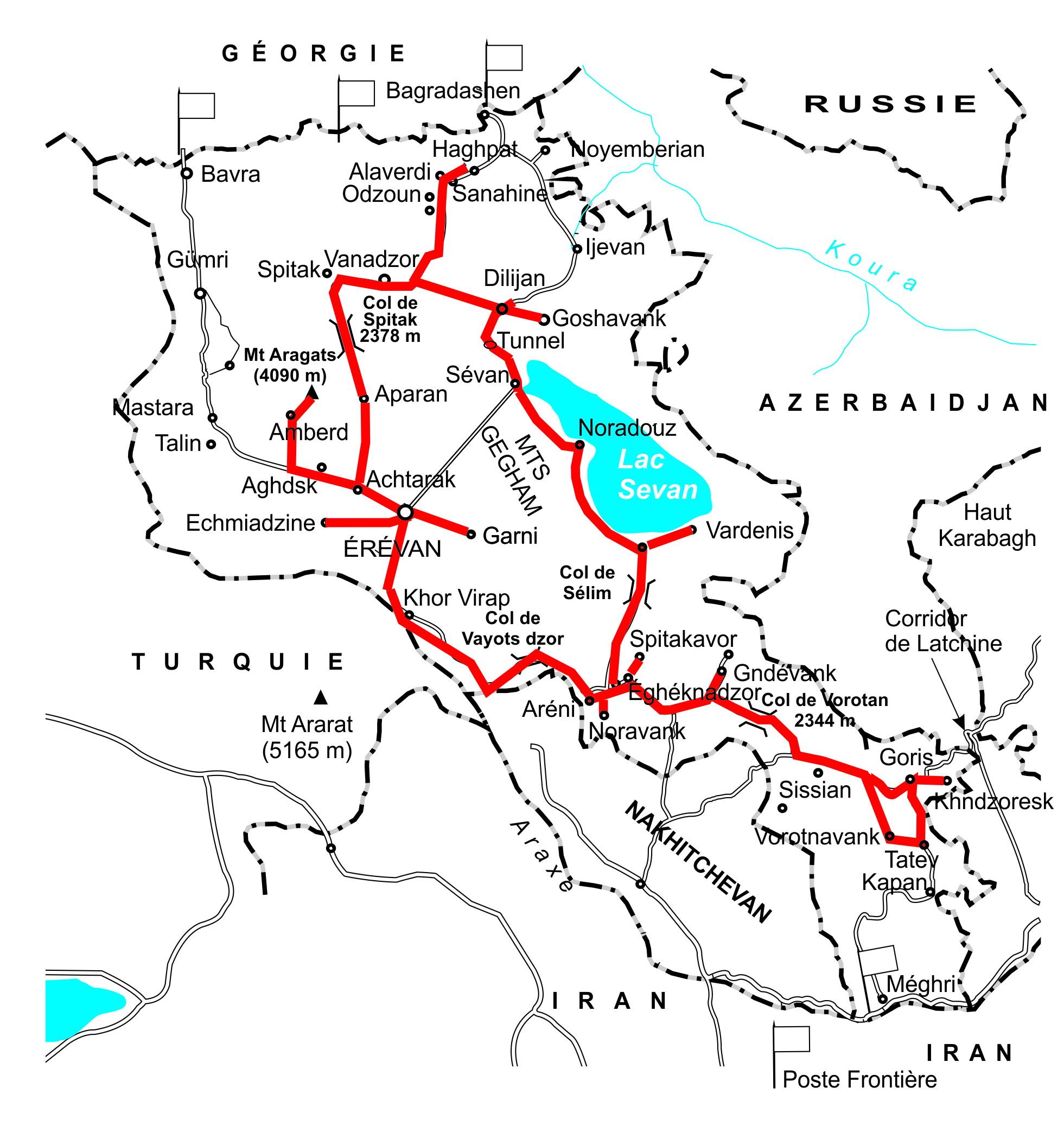 Arménie 11 jours avec Trek